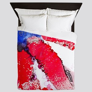 4th of July desgin by GG Burns Queen Duvet