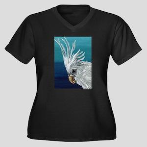 White Cockatiel Plus Size T-Shirt
