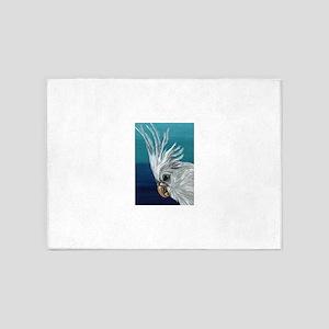 White Cockatiel 5'x7'Area Rug