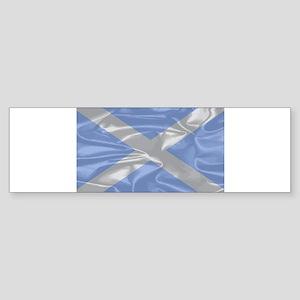 Scotland Silk Flag Bumper Sticker