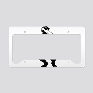 Sitting sumo in love License Plate Holder