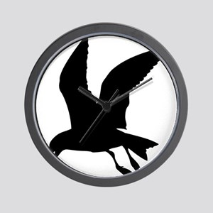 Flying crow silhouette Wall Clock