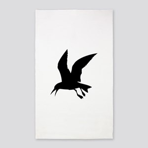 Flying crow silhouette Area Rug