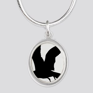 Flying crow silhouette Necklaces