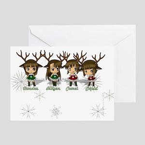 Chibi Reindeer Greeting Card