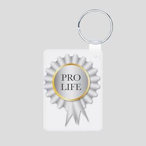 Pro Life Rosette Keychains