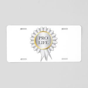 Pro Life Rosette Aluminum License Plate