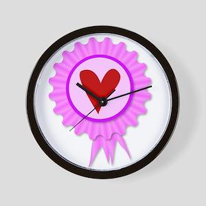 Love Heart Rosette Wall Clock