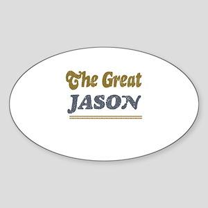Jason Oval Sticker