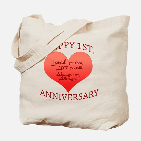 Cool Happy anniversary Tote Bag