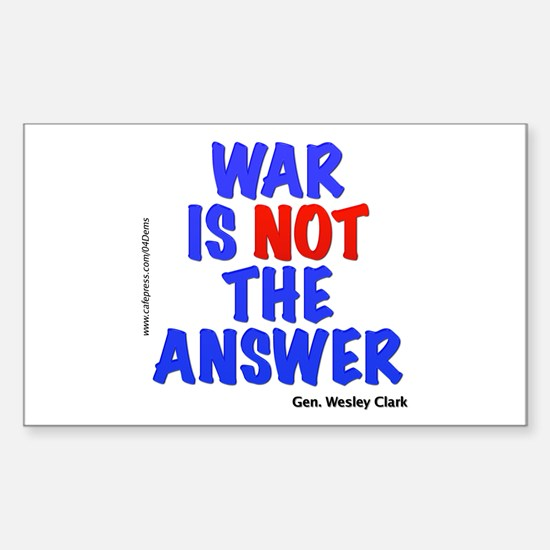 """War No Answer"" Rectangle Decal"