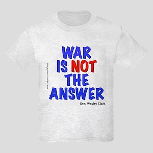 """""""War No Answer"""" Kids Light T-Shirt"""
