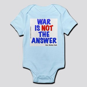 """War No Answer"" Infant Bodysuit"