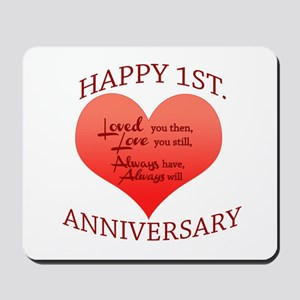 1st. Anniversary Mousepad