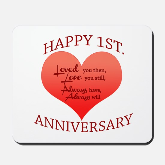 1st. Anniversary Mousepad