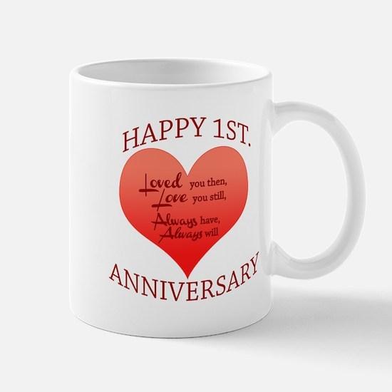 1st. Anniversary Mugs