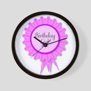 Birthday Girl Rosette Wall Clock