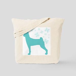 Basenji Snowflake Tote Bag