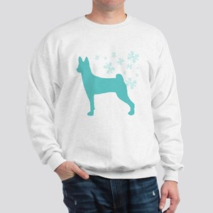 Basenji Snowflake Sweatshirt