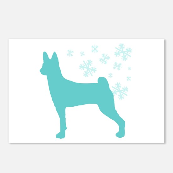 Basenji Snowflake Postcards (Package of 8)