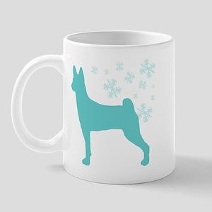 Basenji Snowflake Mug