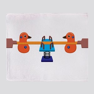 Lever and pulley game Throw Blanket