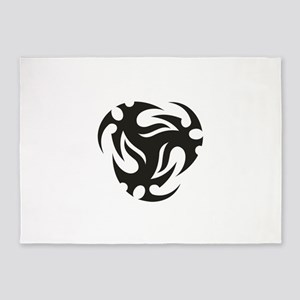 Circular tattoo designs 5'x7'Area Rug