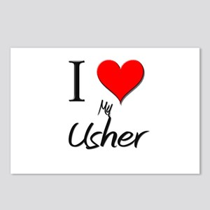 I Love My Usher Postcards (Package of 8)