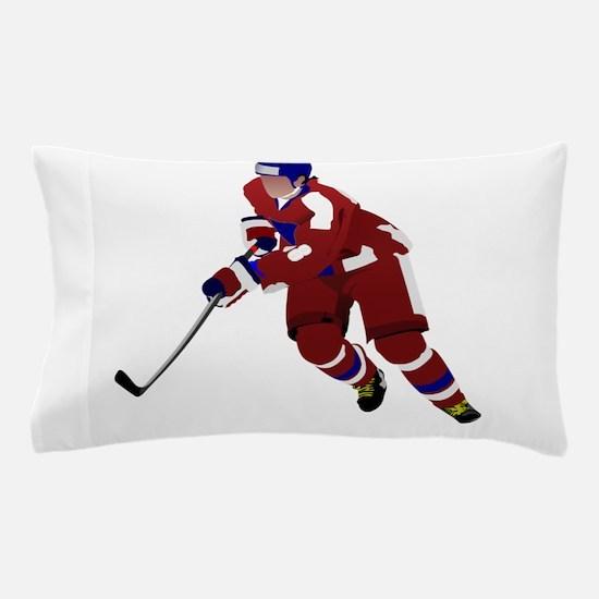 Ice hockey player Pillow Case