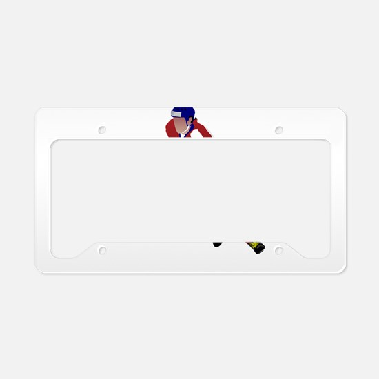Ice hockey player License Plate Holder