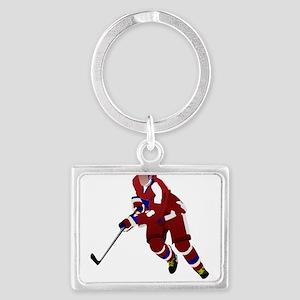 Ice hockey player Keychains