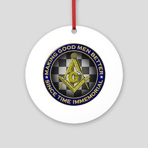 Masons Making Good Men Better Round Ornament
