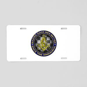 Masons Making Good Men Better Aluminum License Pla