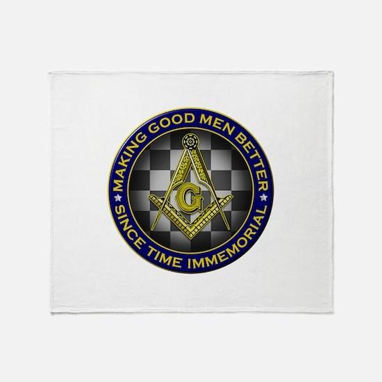 Masons Making Good Men Better Throw Blanket