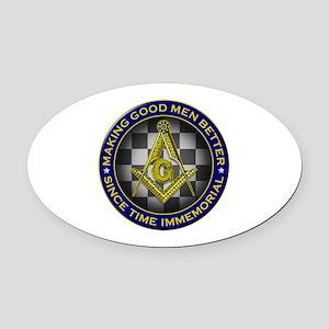 Masons Making Good Men Better Oval Car Magnet