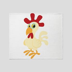 Creamy roaster cartoon Throw Blanket