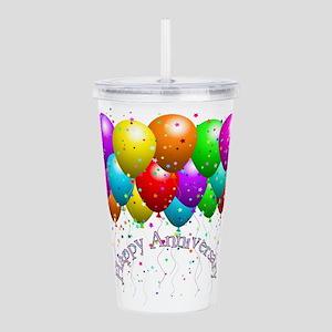 Happy Anniversary Ball Acrylic Double-wall Tumbler