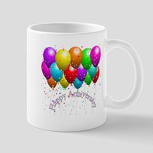 Happy Anniversary Balloons Mugs