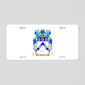 Thom Aluminum License Plate