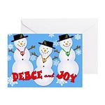Peace & Joy Snowmen Greeting Cards (Pk of 20)