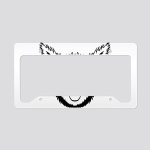 Alpaca face art License Plate Holder