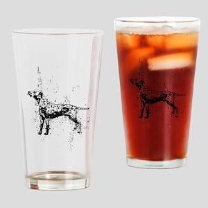 Dalmatian dog art Drinking Glass