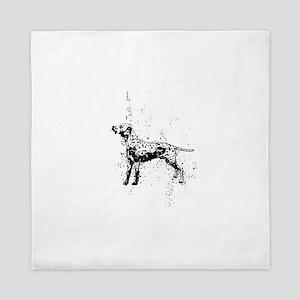 Dalmatian dog art Queen Duvet