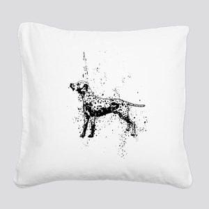 Dalmatian dog art Square Canvas Pillow