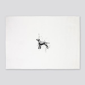Dalmatian dog art 5'x7'Area Rug