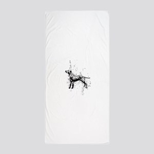 Dalmatian dog art Beach Towel