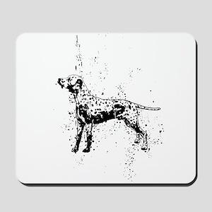 Dalmatian dog art Mousepad
