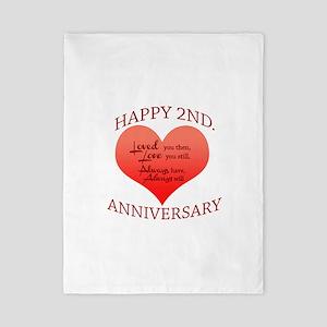 5th. Anniversary Twin Duvet
