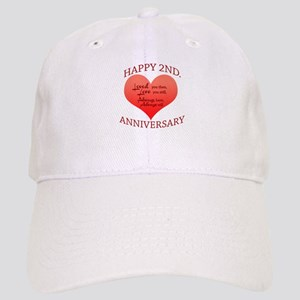 b4008e5a466 Second Wedding Anniversary Hats - CafePress