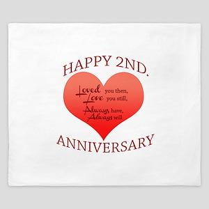 5th. Anniversary King Duvet